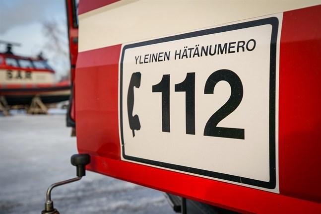En balmaskin började brinna i Tjöck på söndag.