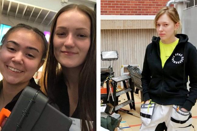 Angelika Klemets och Emma Ingman samt Jennifer Norrvik (till höger) är tre YA-elever som kvalificerat sig för final i Mästare 2020.