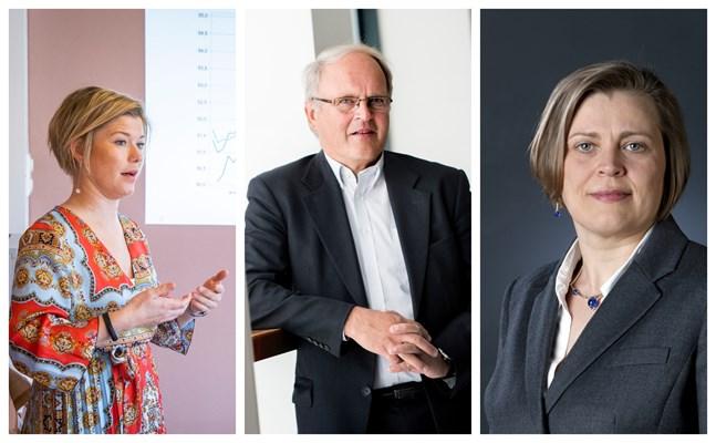 Heidi Schauman, Johnny Åkerholm och Eva Österbacka saknar långsiktighet i regeringens finanspolitik.