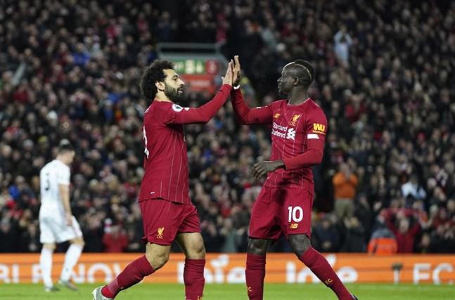 Egyptiern Mohamed Salah och senegalesen Sadio Mané är två av Liverpools största stjärnor. Efter brexit kan det bli färre utländska stjärnor i Premier League.