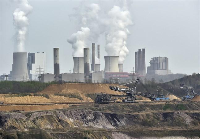 Kol bryts vid ett kraftverk.
