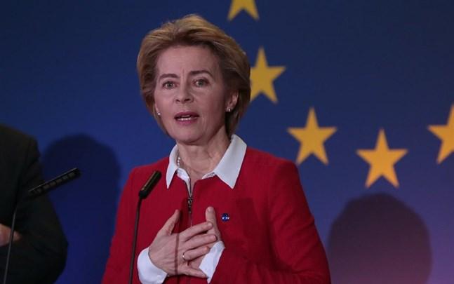 EU-kommissionens ordförande Ursula von der Leyen hoppas på ett ambitiöst handelsavtal med Storbritannien efter brexit.