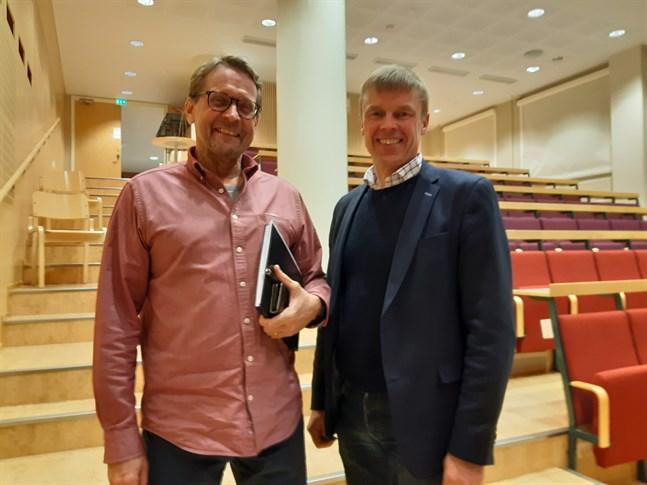 Björn Anderssen (till vänster) har jobbat hårt med den nya strategin, medan Mikael Eklund är ordförande för Liga jaro.