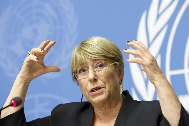– Jag är medveten om att den här frågan har varit, och fortsatt är, mycket känslig, säger Michelle Bachelet, som är FN:s högkommissarie för mänskliga rättigheter och vars kansli har skött arbetet med at ta fram listan med 112 bosättarföretag. Arkivbild.