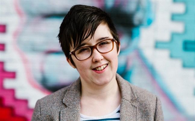 Journalisten Lyra McKee, som sköts ihjäl i samband med sammandrabbningar i Londonderry i april i fjol.