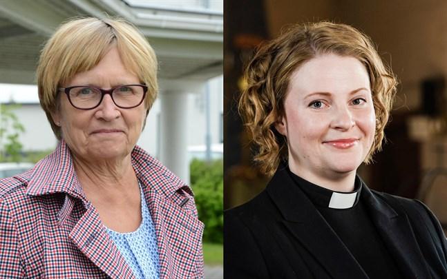 Ulla-Maj Wideroos och Mia Anderssén-Löf.