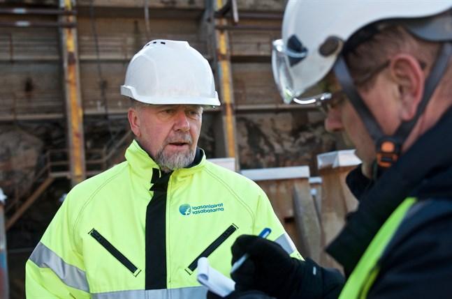 Peter Ståhlberg, vd på Wasaline, besöker varvet i Raumo regelbundet.