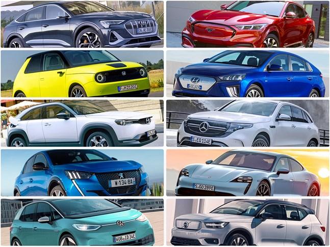 Här är tio bilköp med 100 procent eldrift.