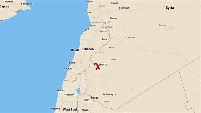 Robotar ska ha avfyrats från Israel mot Damaskus.