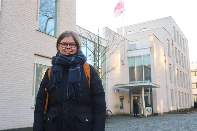 Sara Björklunds favoritplats i Helsingfors är Vinterträdgården. Att utforska staden och hitta nya favoritställen är ett bra sätt att göra sig hemmastadd på en ny studieort, tycker hon.