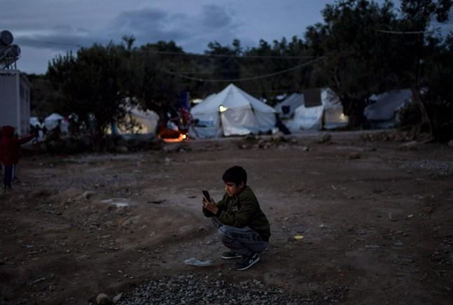 Bild från flyktinglägret Moria på Lesbos.