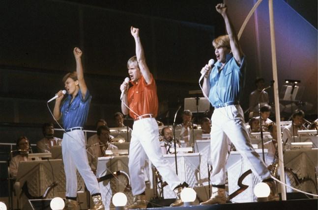 Herreys vann Eurovision Song Contest iklädda gyllene skor. Arkivbild.