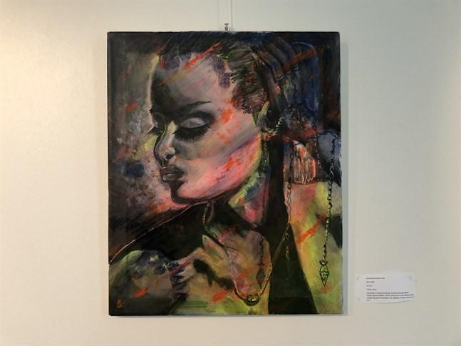 Hanna Norrgård målade tavlan Filter då hon bodde i Umeå.