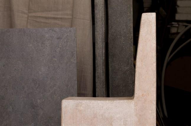 Del av en betongskulptur av Kajsa Mattas. Pressbild.