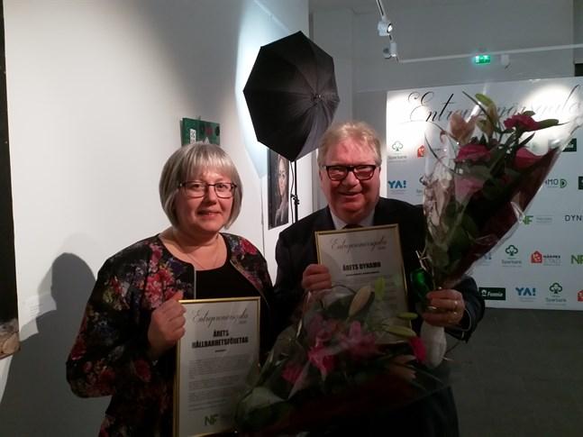 Priset Årets hållbarhetsföretag gick till Eva Bäckmans företag Aquatex medan Raymond Wesander utsågs till Årets Dynamo.