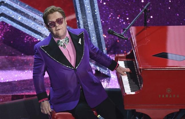 Elton John framträdde på Oscarsgalan tidigare denna månad. Arkivbild.