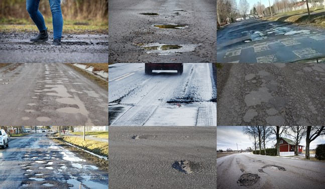 Det råder ingen brist på gropiga vägar i Österbotten.