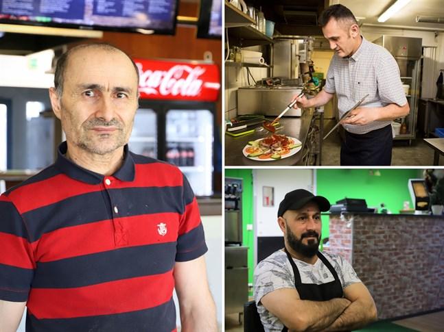 Ali Azarakhsh, Haki Lajqi och Adil Abbas Ali driver alla pizzerior i Vasa.