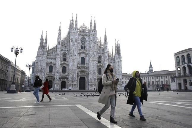 De värst drabbade orterna ligger sydost om storstaden Milano.