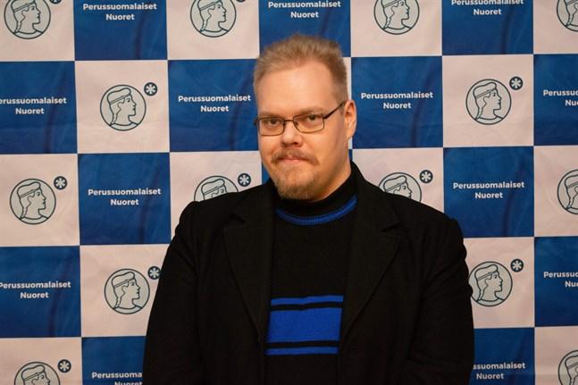 Finsk ungdoms avgående andra viceordförande Toni Jalonen vid ungdomsförbundets höstmöte 2019.