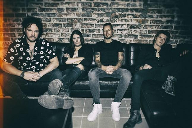 Medlemmarna i One Desire är från vänster Jimmy Westerlund (gitarr, producent), André Linman (sång, gitarr), Jonas Kuhlberg (bas) och Ossi Sivula (trummor).