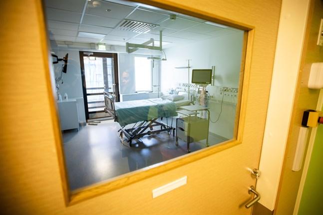 Isoleringsrum på centralsjukhuset.