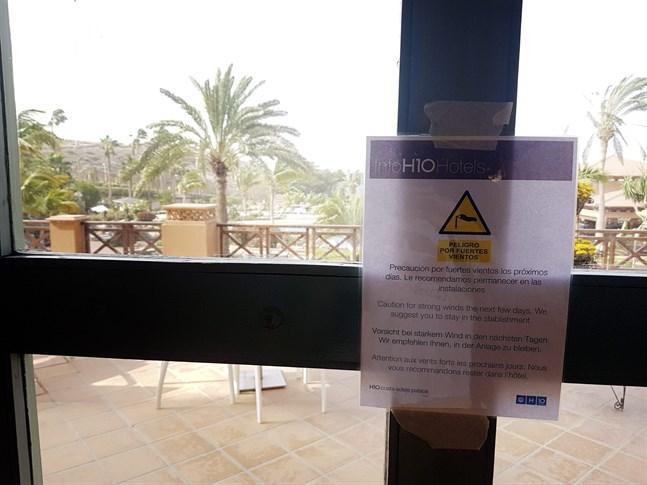 Costa Adeje Palace-hotellet på Teneriffa är i karantän. På hotellet finns fyra finska resenärer.