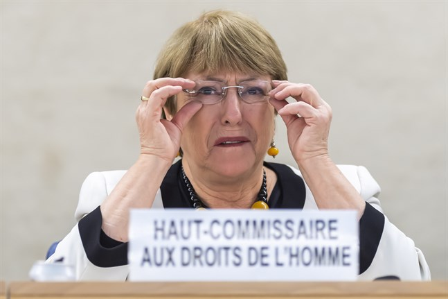 FN:s människorättschef Michelle Bachelet. Arkivbild.