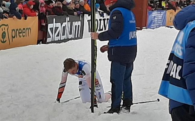 Viktor Mäenpää tog ut sig helt i Vasaloppet.