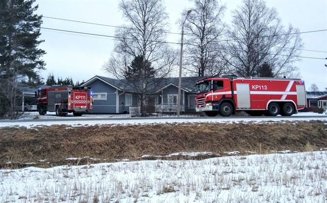 Räddningsverket ryckte ut till Kålavägen i Karleby.
