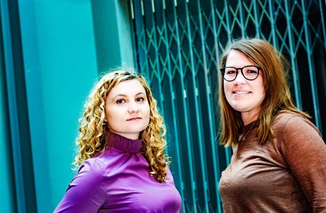 Dobra är ett bemanningsföretag som vill växa. Daria Kapusta är personalchef och Katja Sundqvist sköter administration och ekonomi.
