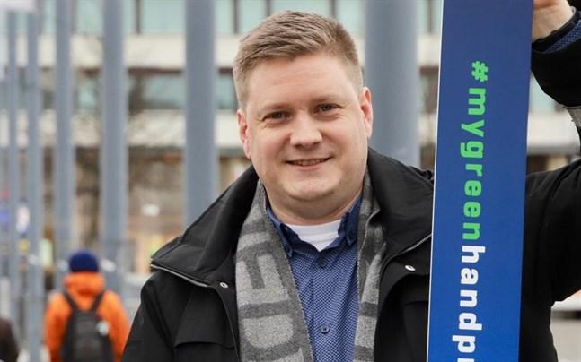 Kristoffer Jansson, som koordinerar Energy Week, är glad över att äntligen få ordna evenemanget på plats i stadshuset igen.