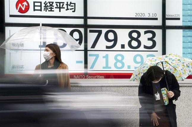 Japans Nikkei 225-index den 10 mars.