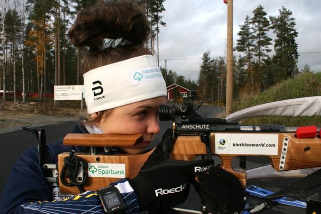 Heidi Kuuttinen lyckades med skyttet vid starten av junior-EM i Österrike.