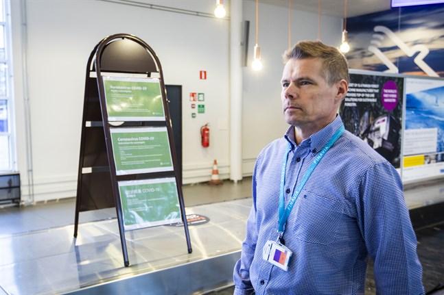 Petri Lampi är flygplatschef på Vasa flygplats.