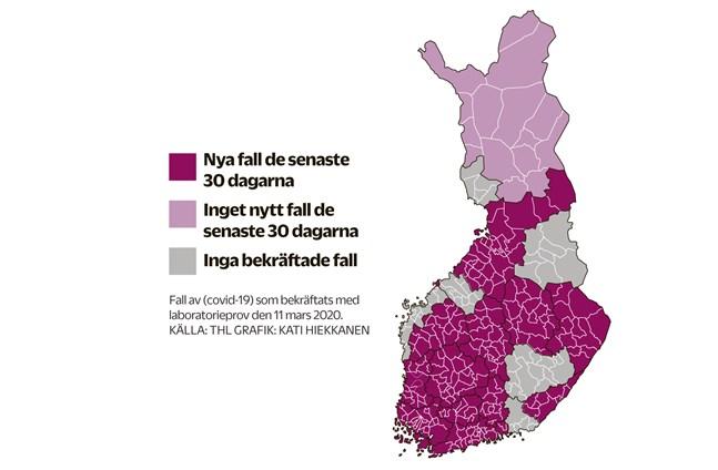 Hittills finns inget bekräftat fall av corona i Vasa sjukvårdsdistrikt.