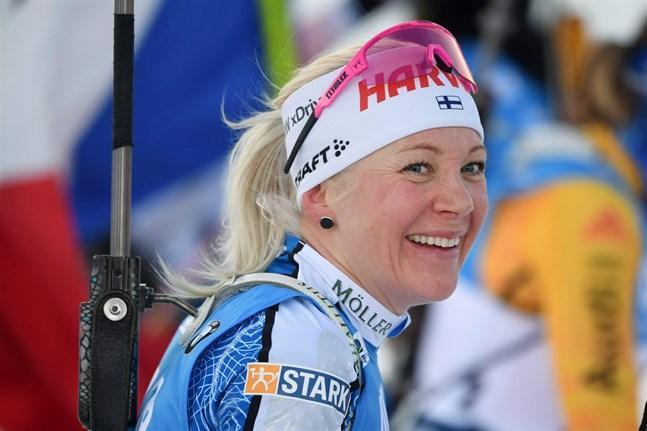 Kaisa Mäkäräinen avslutade karriären med en strålande fjärdeplats.
