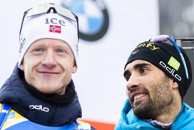 Johannes Thingnes Bö och Martin Fourcade blev vinnare i Kontiolax.