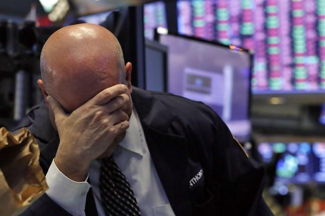 Ännu en handelsdag präglad av kraftiga kursfall på Wall Street till följd av coronaviruset. Arkivbild.