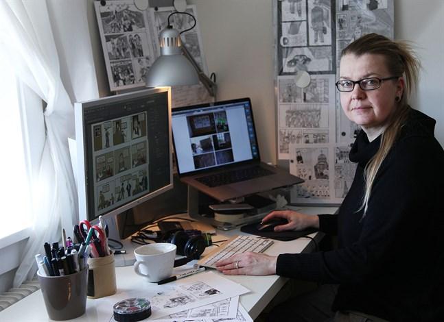 Petra Lapveteläinen får bidrag för en kriminalnovell i ett lite annorlunda format, på två språk.