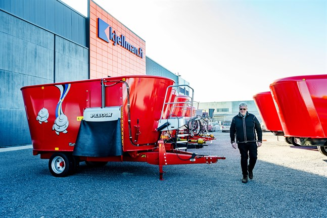 Nya läget i Kållby, i Nautors gamla produktionshall, ger större synlighet och mera plats, konstaterar Tomas Kjellman.