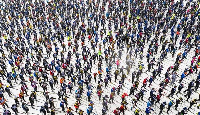Några av de 13915 som startade i Sälen i Vasaloppet den 1 mars i år.