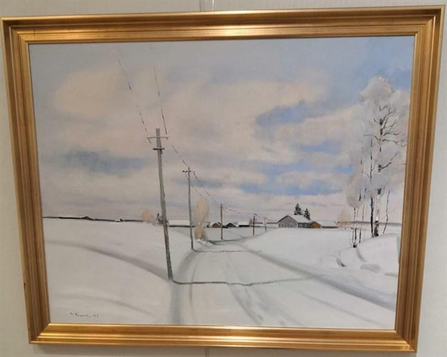 Det österbottniska landskapet var något som Matias Rinne återkom till i många av sina verk.