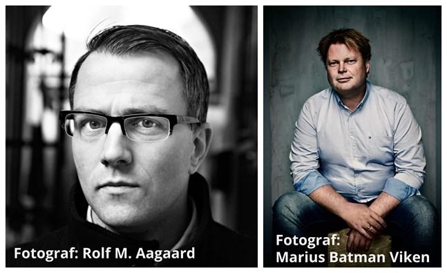 Thomas Enger fotad av Rolf M. Aagaard och Jørn Lier Horst fotad av Marius Batman Viken.