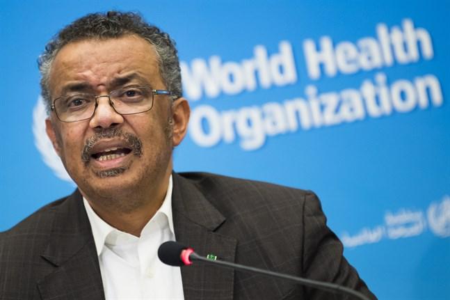 Världshälsoorganisationen WHO:s chef Tedros Adhanom Ghebreyesus. Arkivbild.