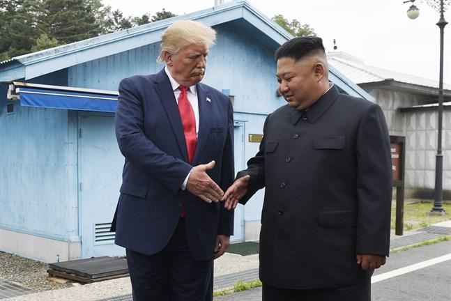 Nordkoreas statliga medier gör gällande att USA:s president skickat ett brev med beröm till landets högste ledare Kim Jong-un för dennes hantering av coronaviruset. Arkivbild.
