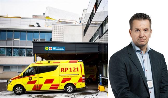 Christian Kantola jobbar som chefsöverläkare på Vasa centralsjukhus.