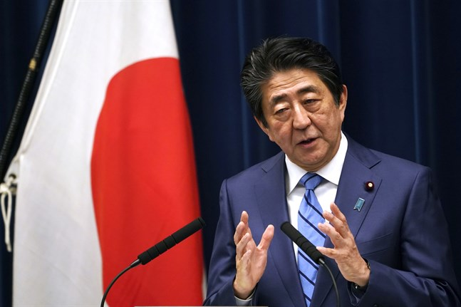 Japan premiärminister Shinzo Abe. Arkivbild.