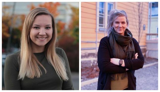 Leila Arnautovic och Jenni Ahlbäck börjar jobba för SFP i Österbotten.