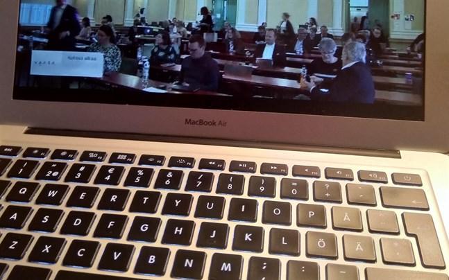 Ingen publik fick närvara vid fullmäktigemötet på måndagen. Mötet sändes som vanligt på webben.